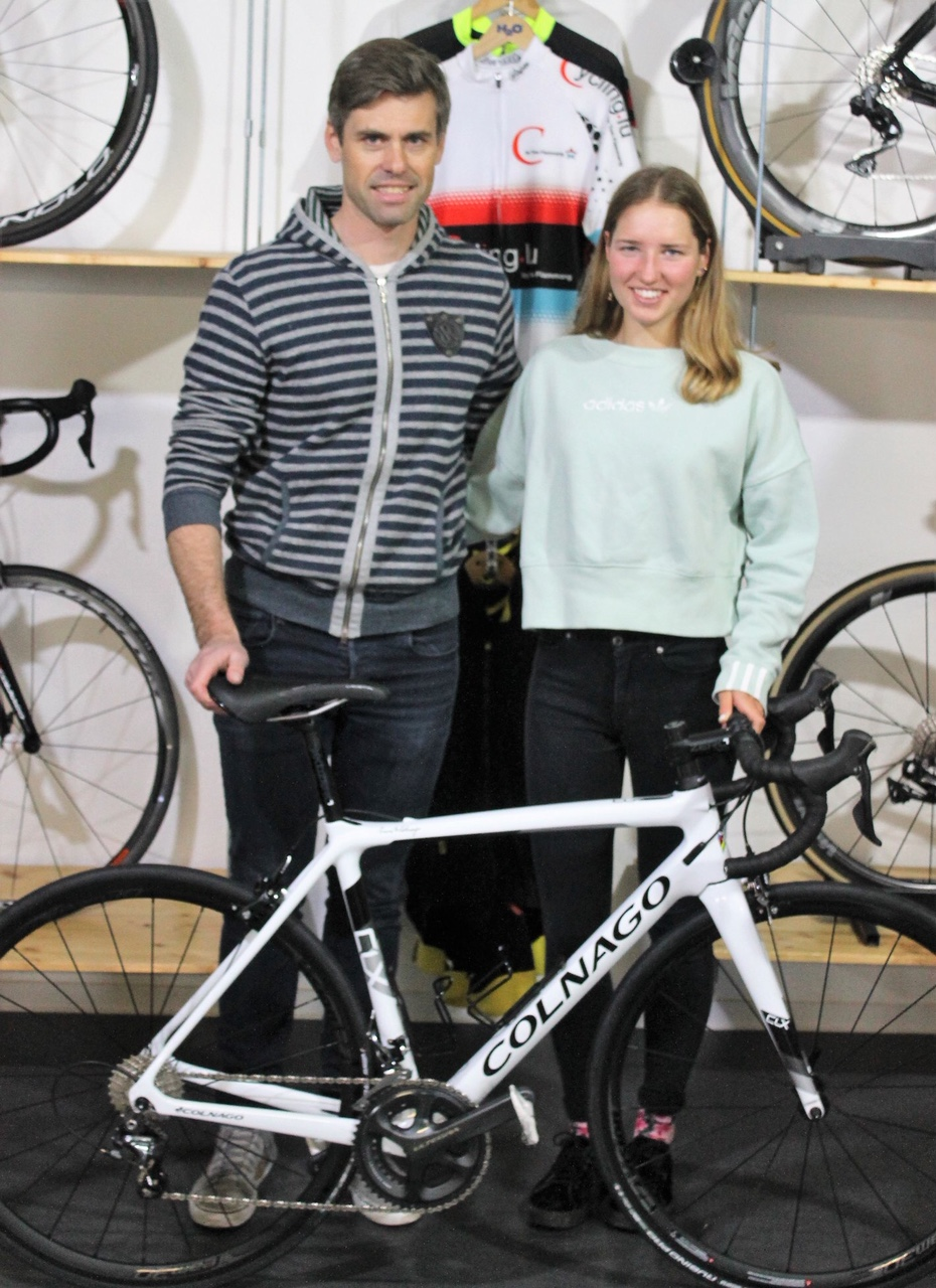 Eva Daniëls sponsored by Cycling.lu
